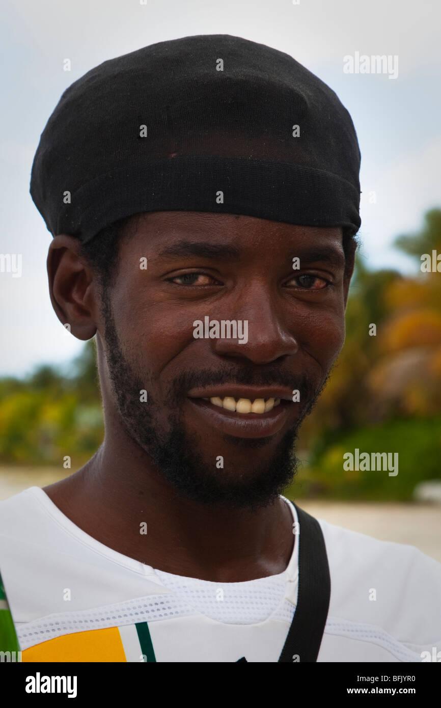 Black man from Antigua - Stock Image