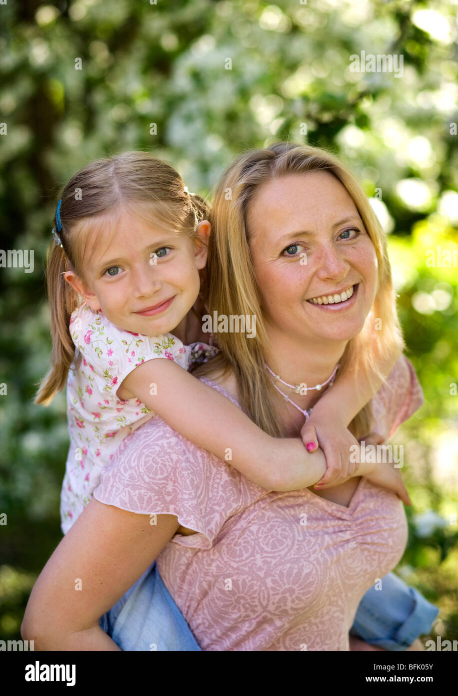 Mother and daughter, Sweden. - Stock Image