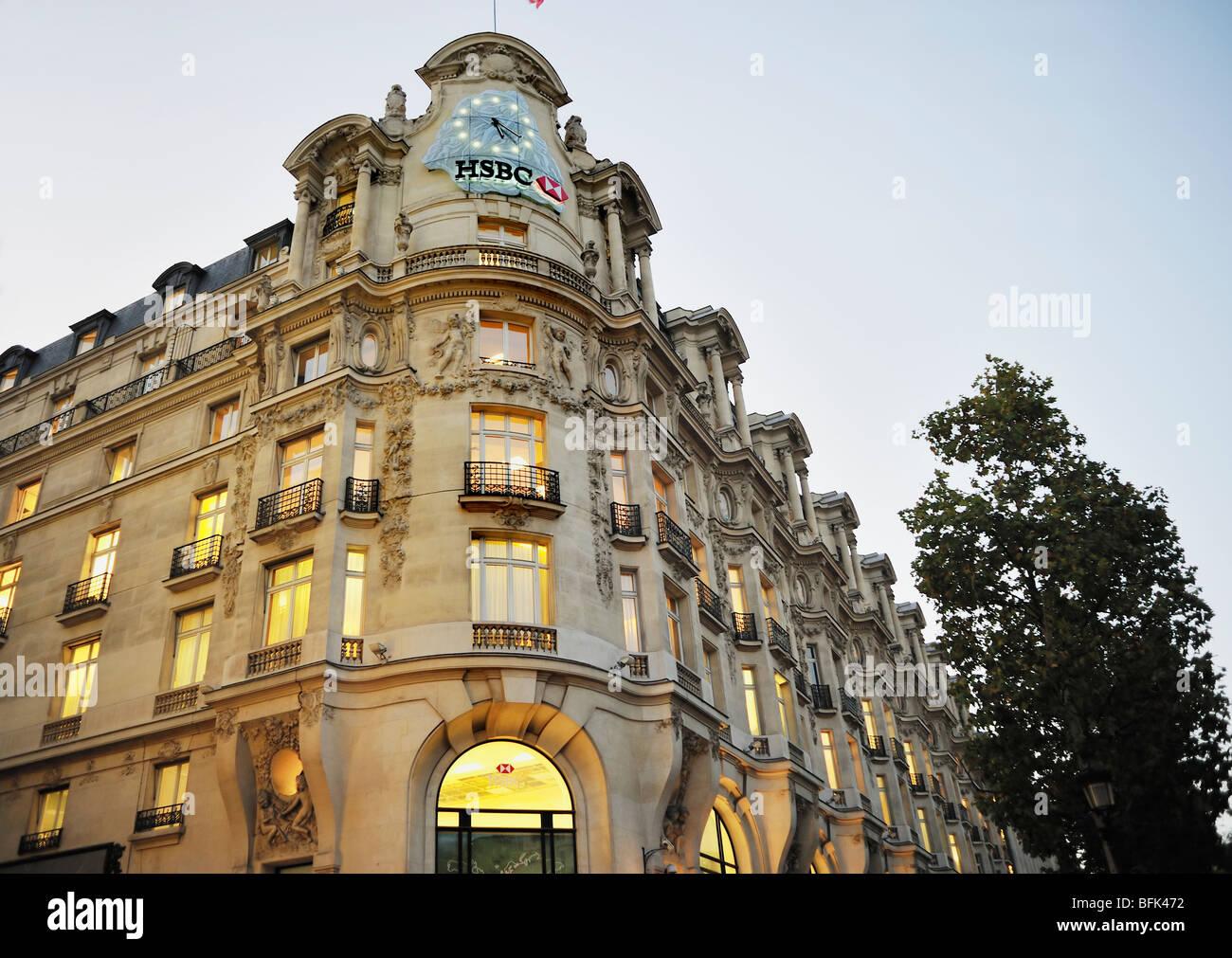 Paris, France, Commercial Architecture, HSBC Bank Corporate Stock