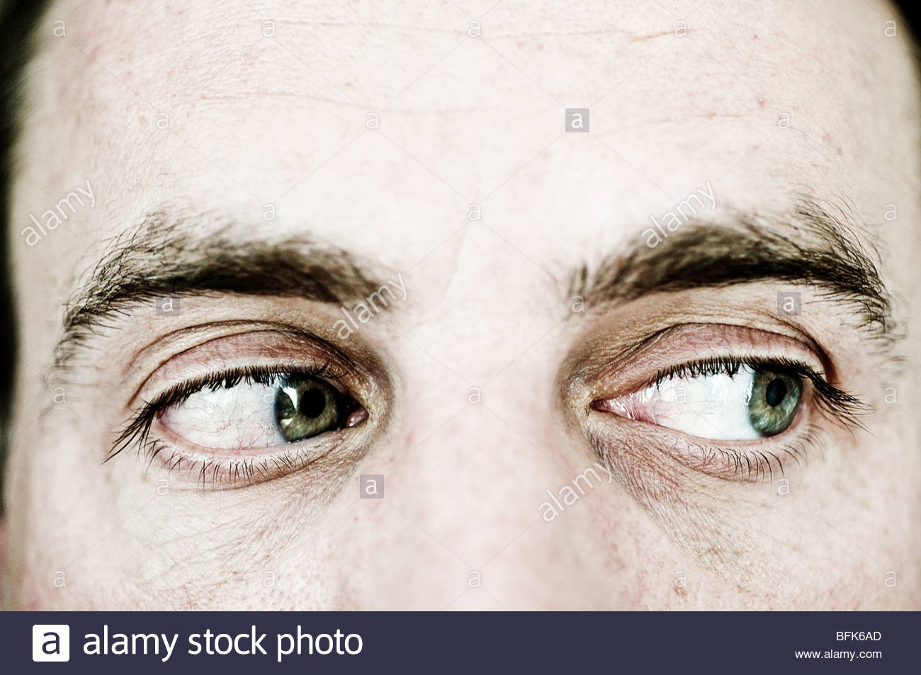 Man looking right - Stock Image