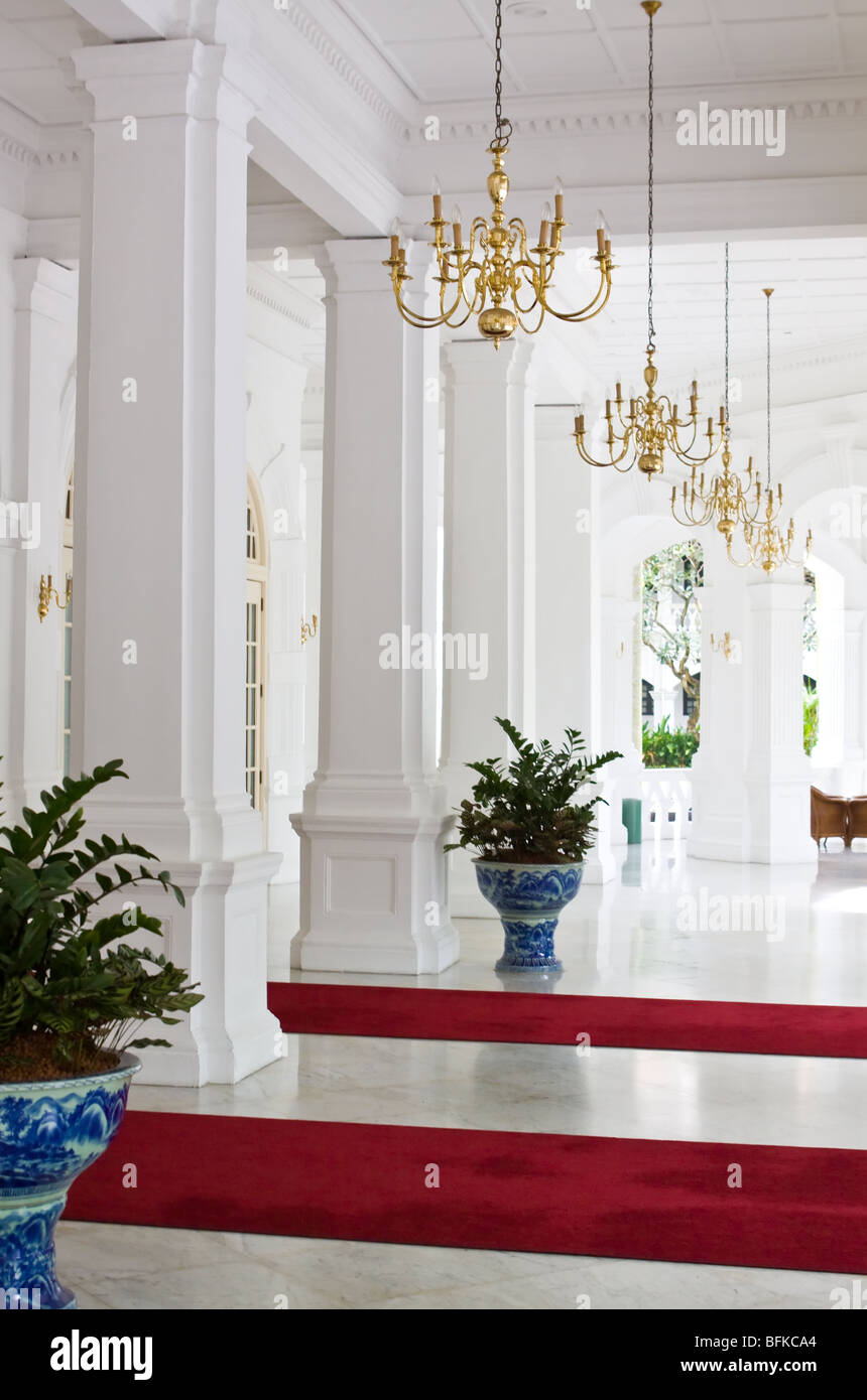 Entrance to Raffles Hotel Singapore Asia - Stock Image