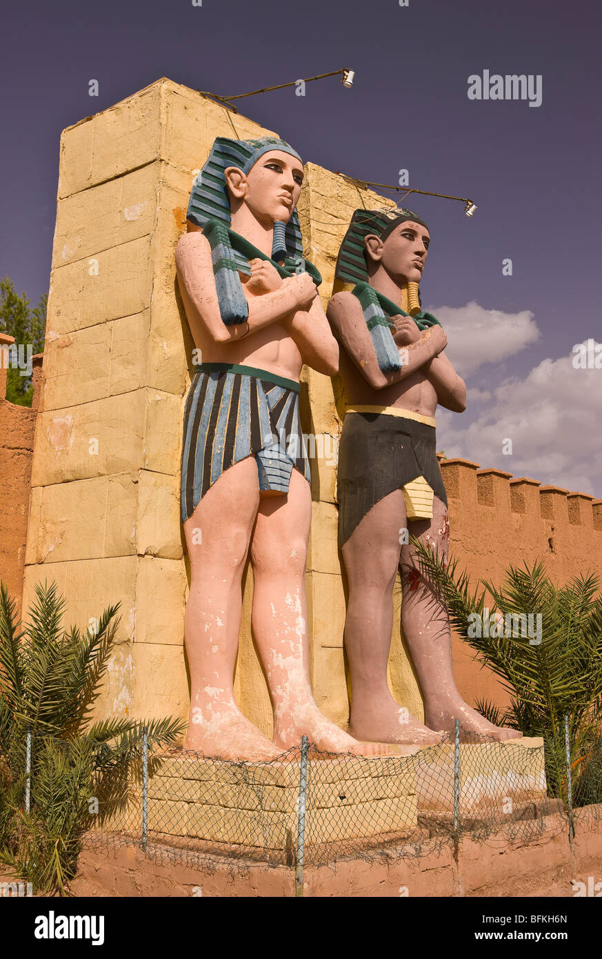 OUARZAZATE, MOROCCO - Movie props at Atlas Corporation Studios. - Stock Image