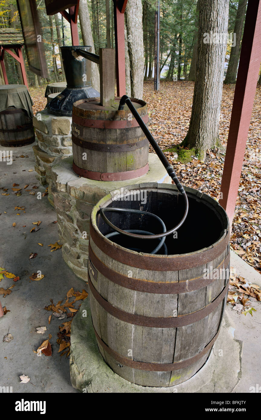 Display of Moonshine Still in Breaks Interstate Park in Dickenson County, Virginia - Stock Image