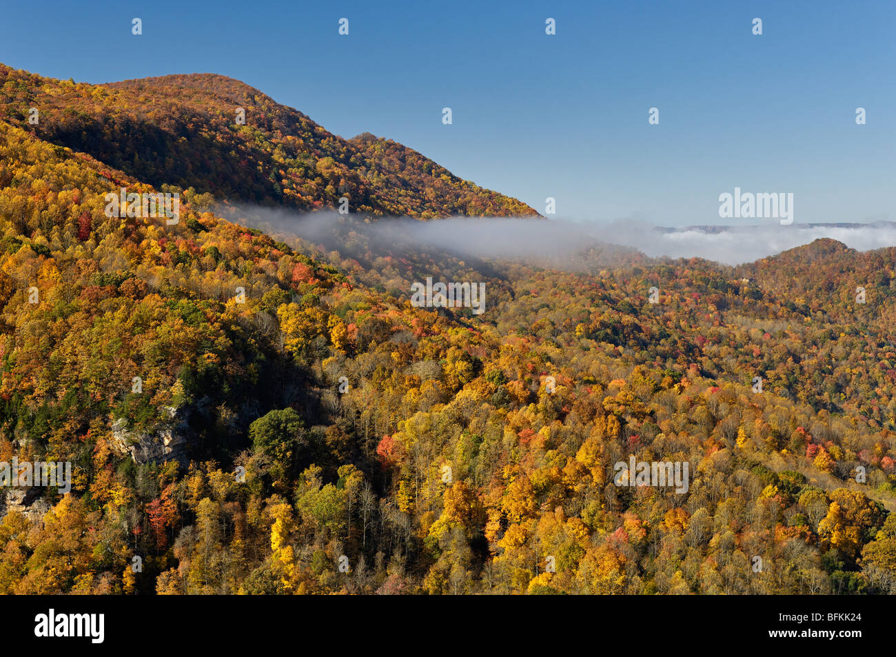 Autumn Color at Breaks Interstate Park in Virginia and Kentucky - Stock Image