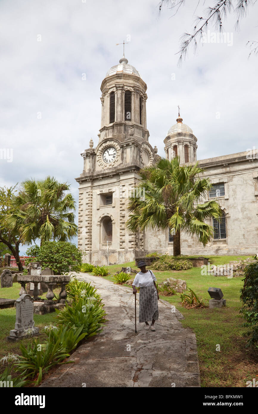 Cathedral of St John the Divine, St Johns, Antigua and Barbuda, West Indies - Stock Image