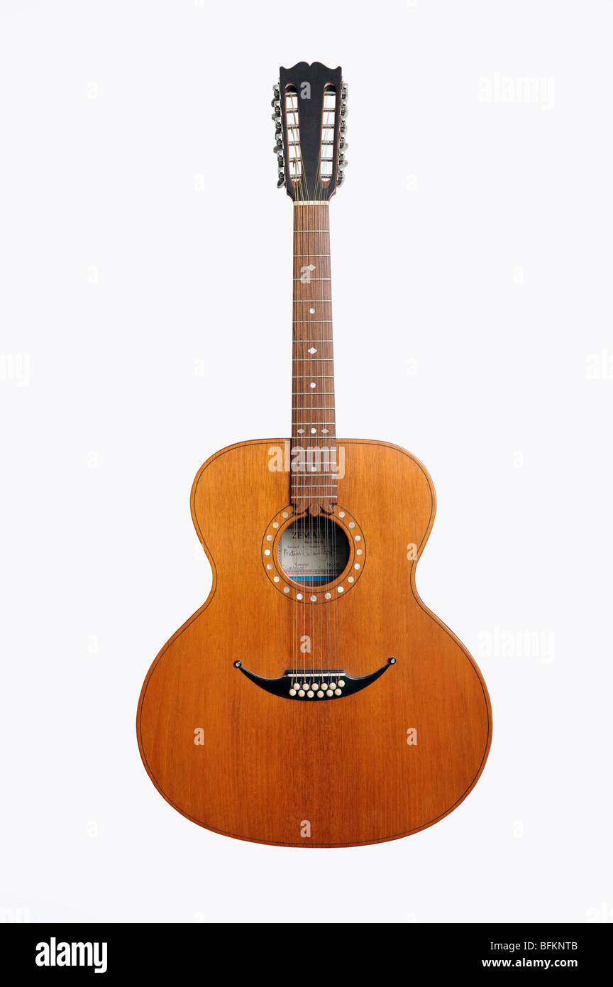 Zemaitis twelve string acoustic guitar - Stock Image