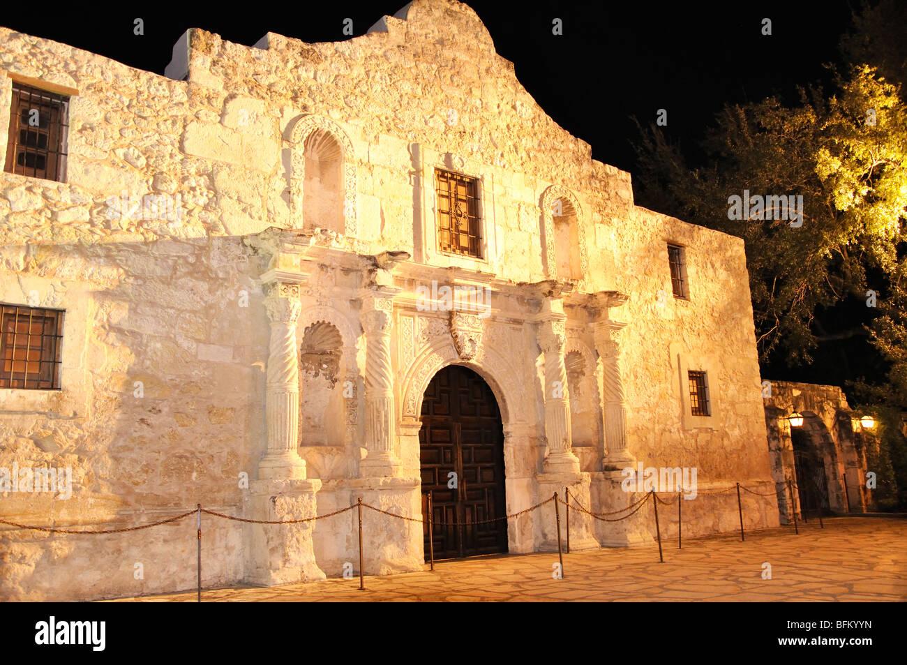 The Alamo, San Antonio, Texas, USA - Stock Image