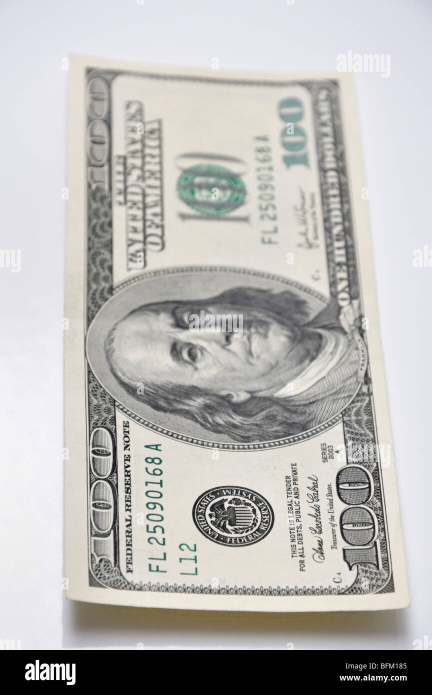 One hundred dollar bill - Stock Image