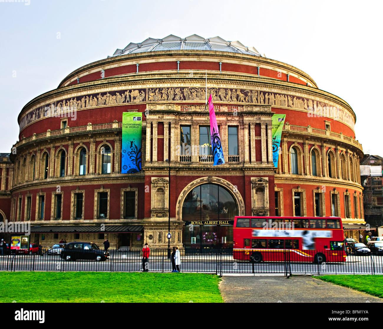 Royal Albert Hall building in London England - Stock Image