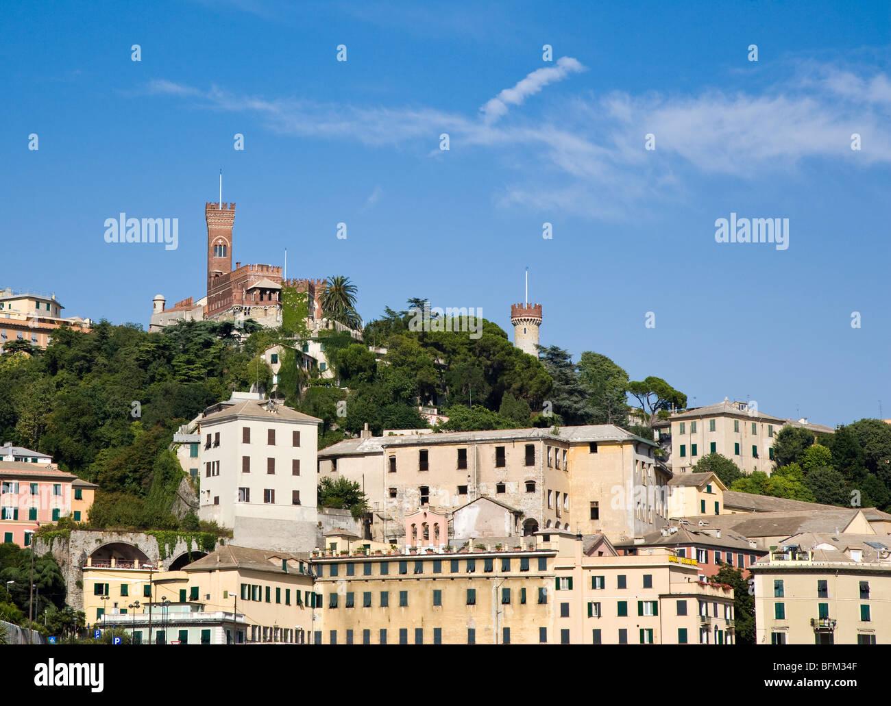 Genoa skyline, Italy - Stock Image