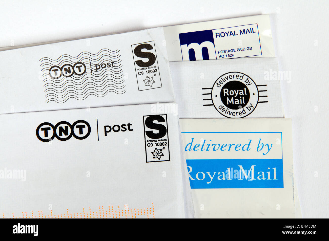 tnt post royal mail postage labels stock photo 26873552 alamy