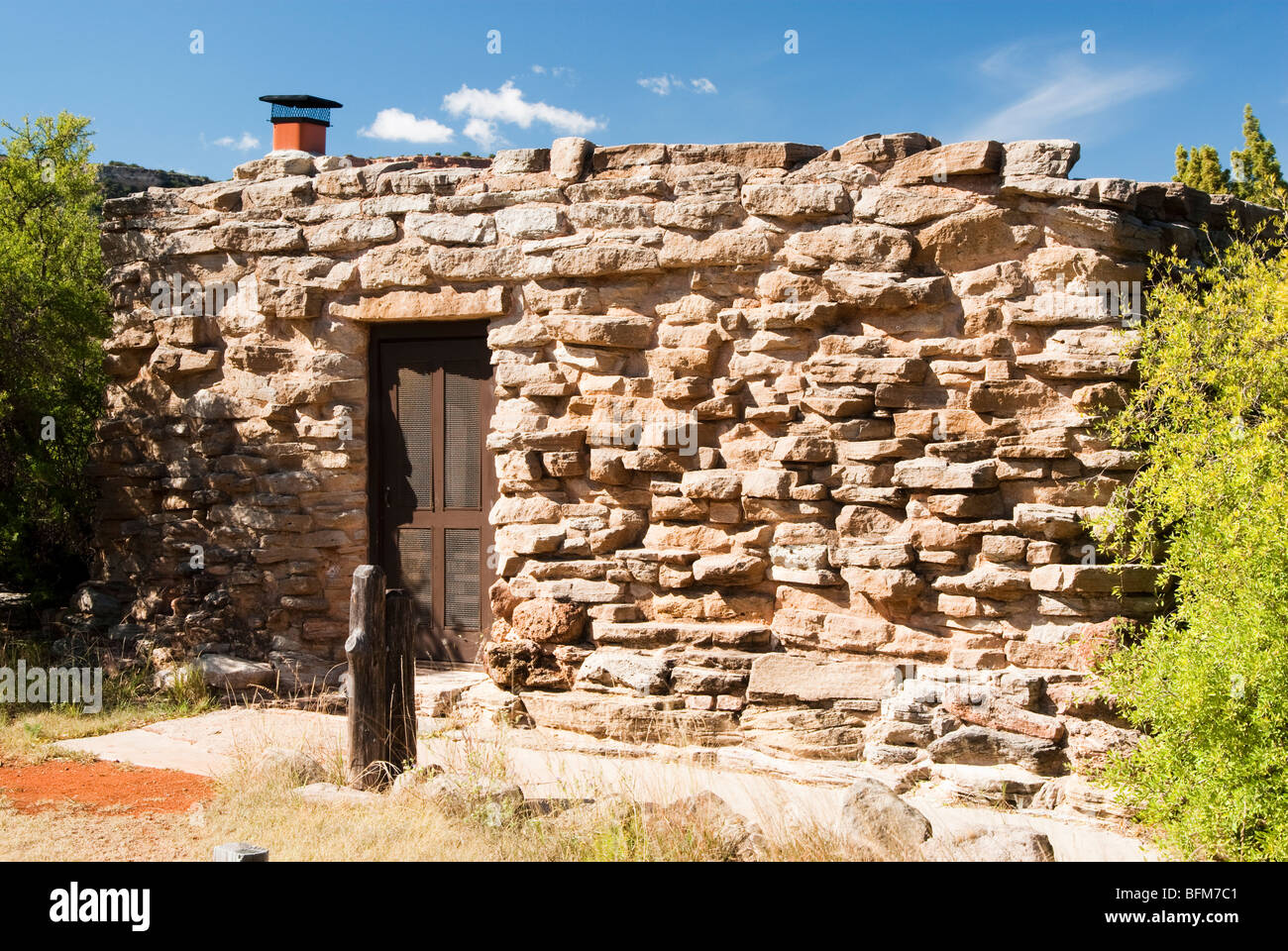 Cow Camp cabin in Palo Duro Canyon State Park in Texas. - Stock Image