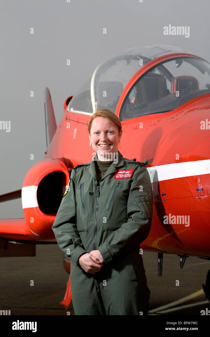 The first female Red Arrows pilot Kirsty Moore - Stock Image
