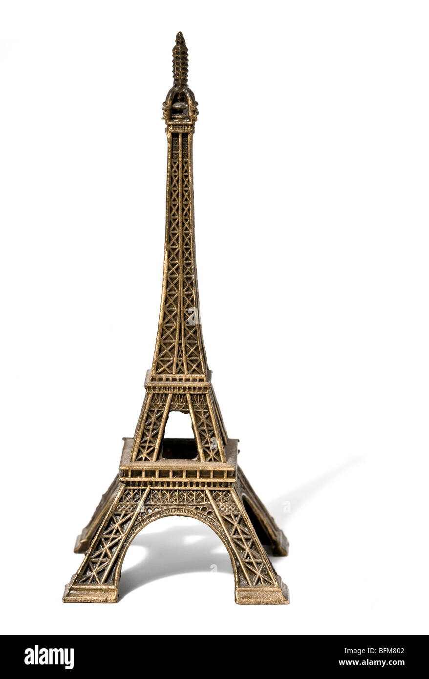 Souvenir model of the Eiffel Tower - Stock Image