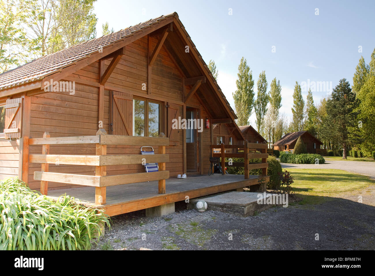 Wooden house - Stock Image