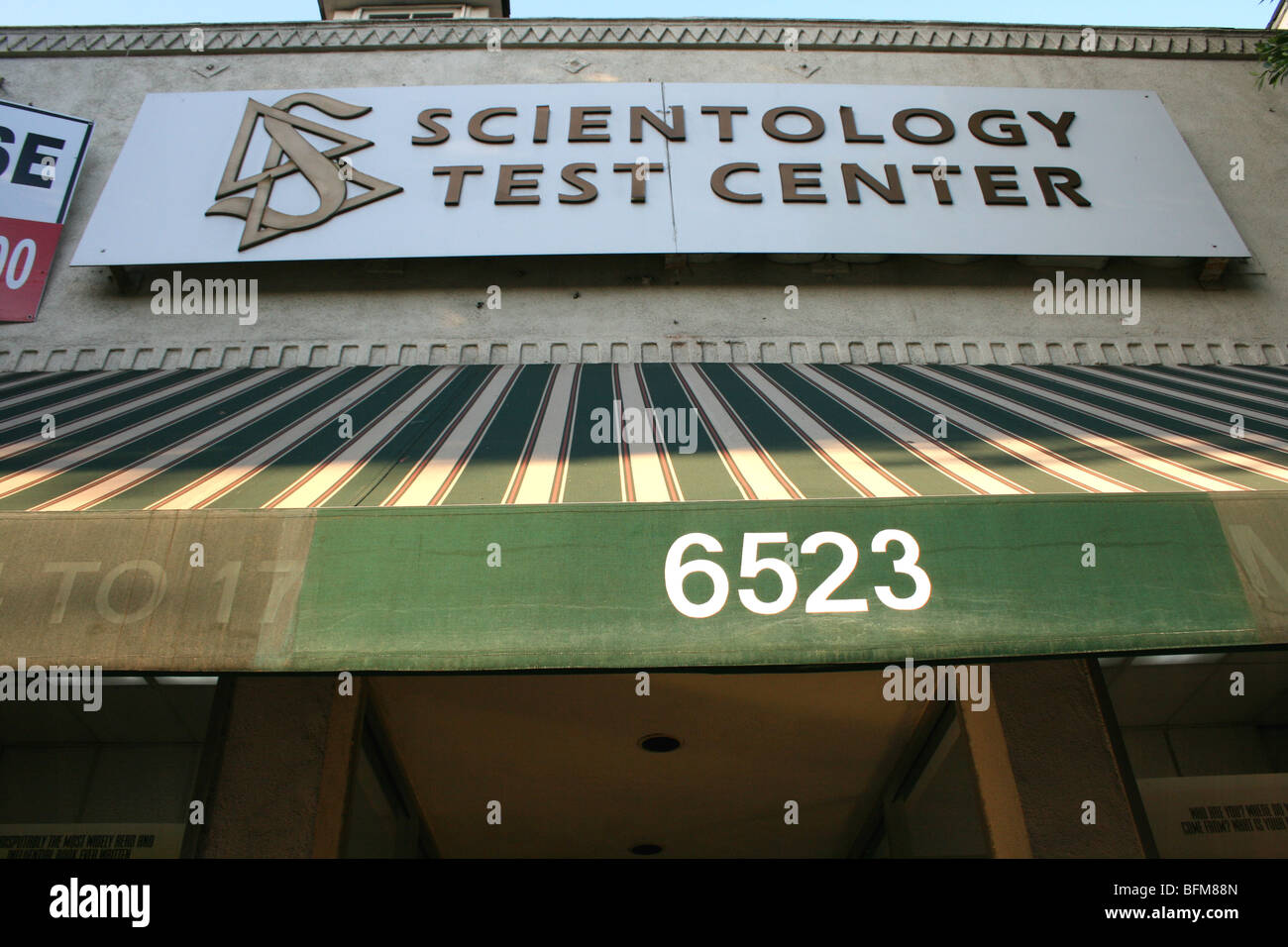 sign for a scientology test center in Los Angeles, CA - Stock Image
