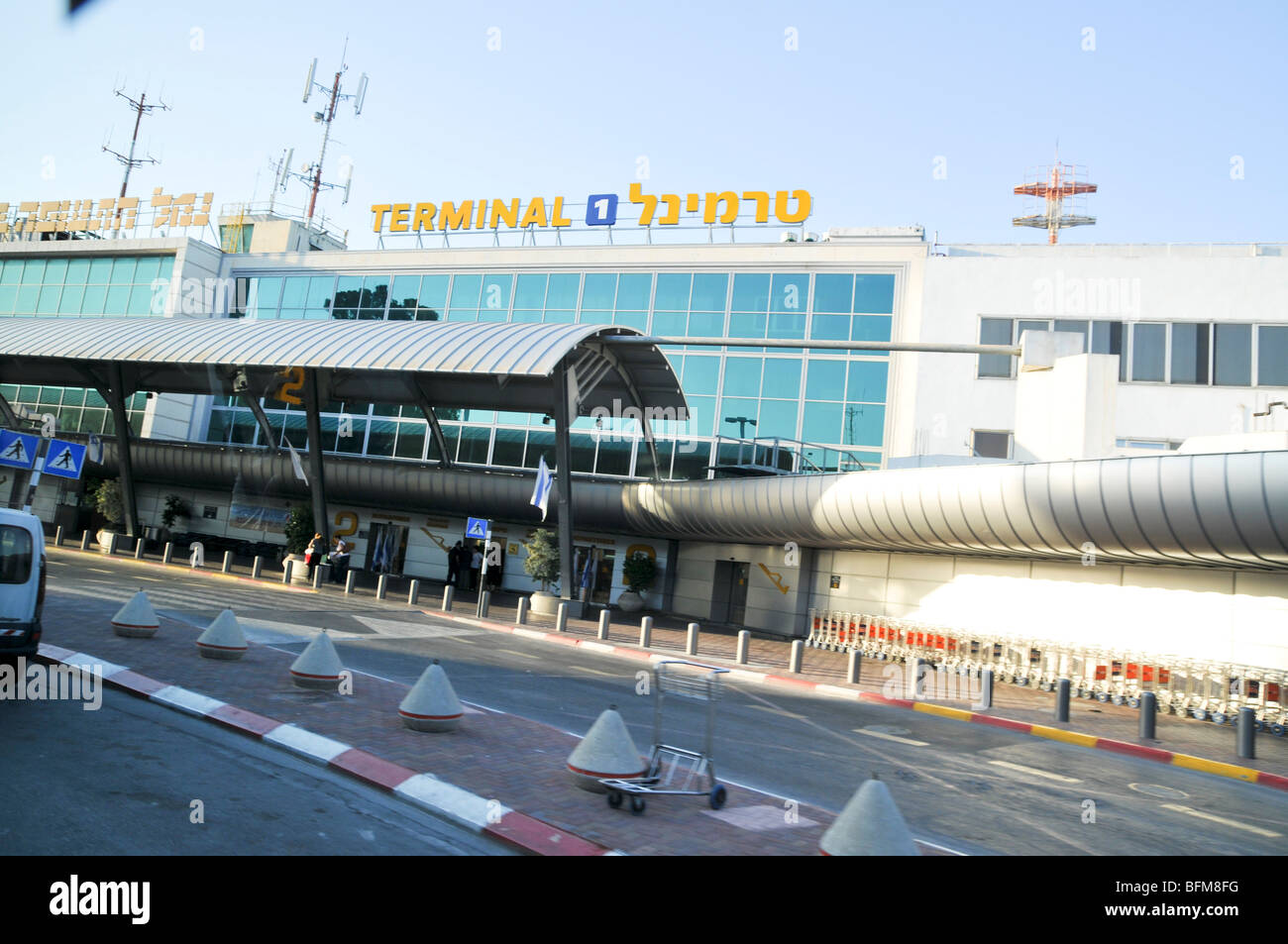 Israel, Ben-Gurion international Airport Entrance to Terminal 1 - Stock Image