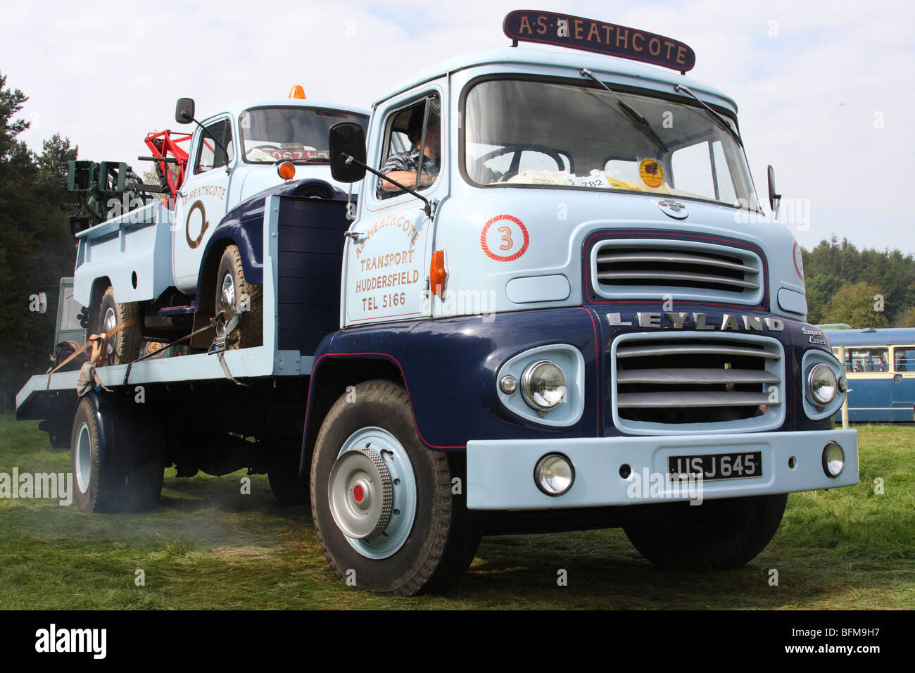 A Leyland HGV at a commercial vehicle show in the U.K. - Stock Image