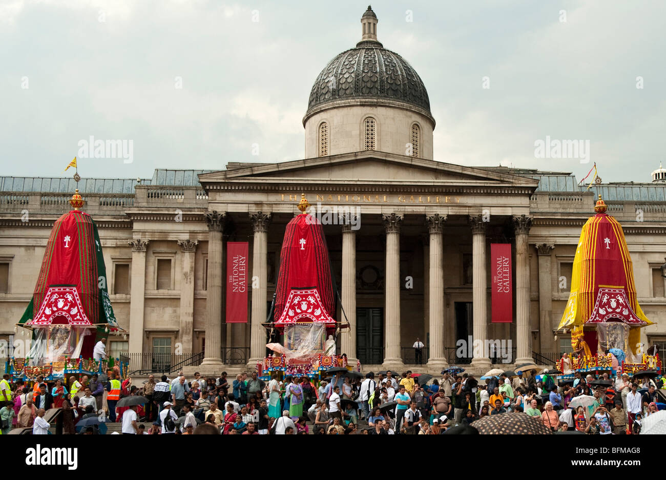 Celebrations of Ratha Yatra  The Hindu festival of chariots in London UK Stock Photo