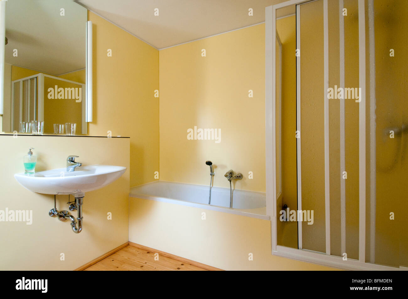 Germany, Rheinberg-Budberg, Ossenberg Castle, bathroom - Stock Image