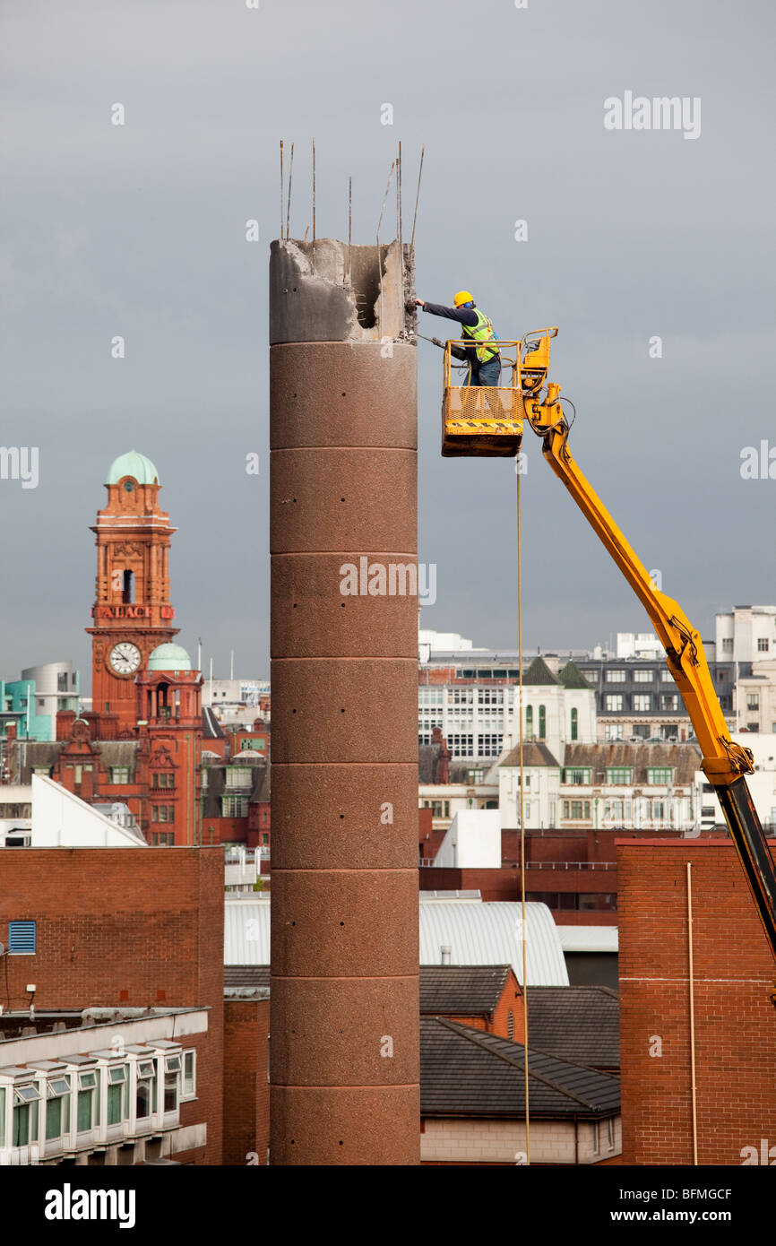 Cooling Tower Demolition : Cooling tower demolition stock photos