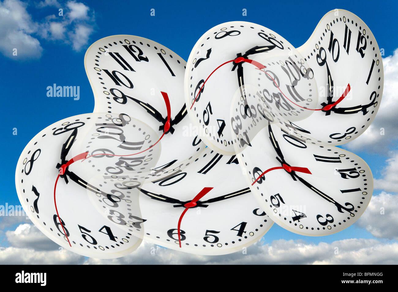 Time warps, conceptual artwork - Stock Image