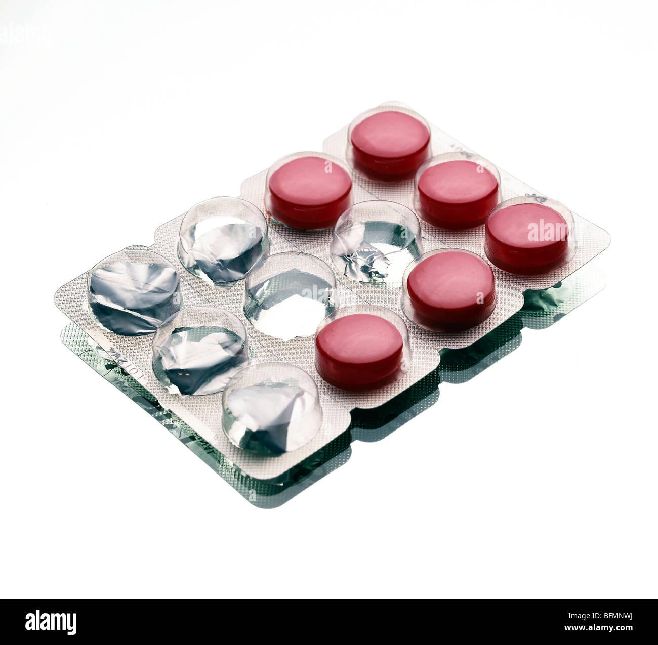 Throat lozenges - Stock Image