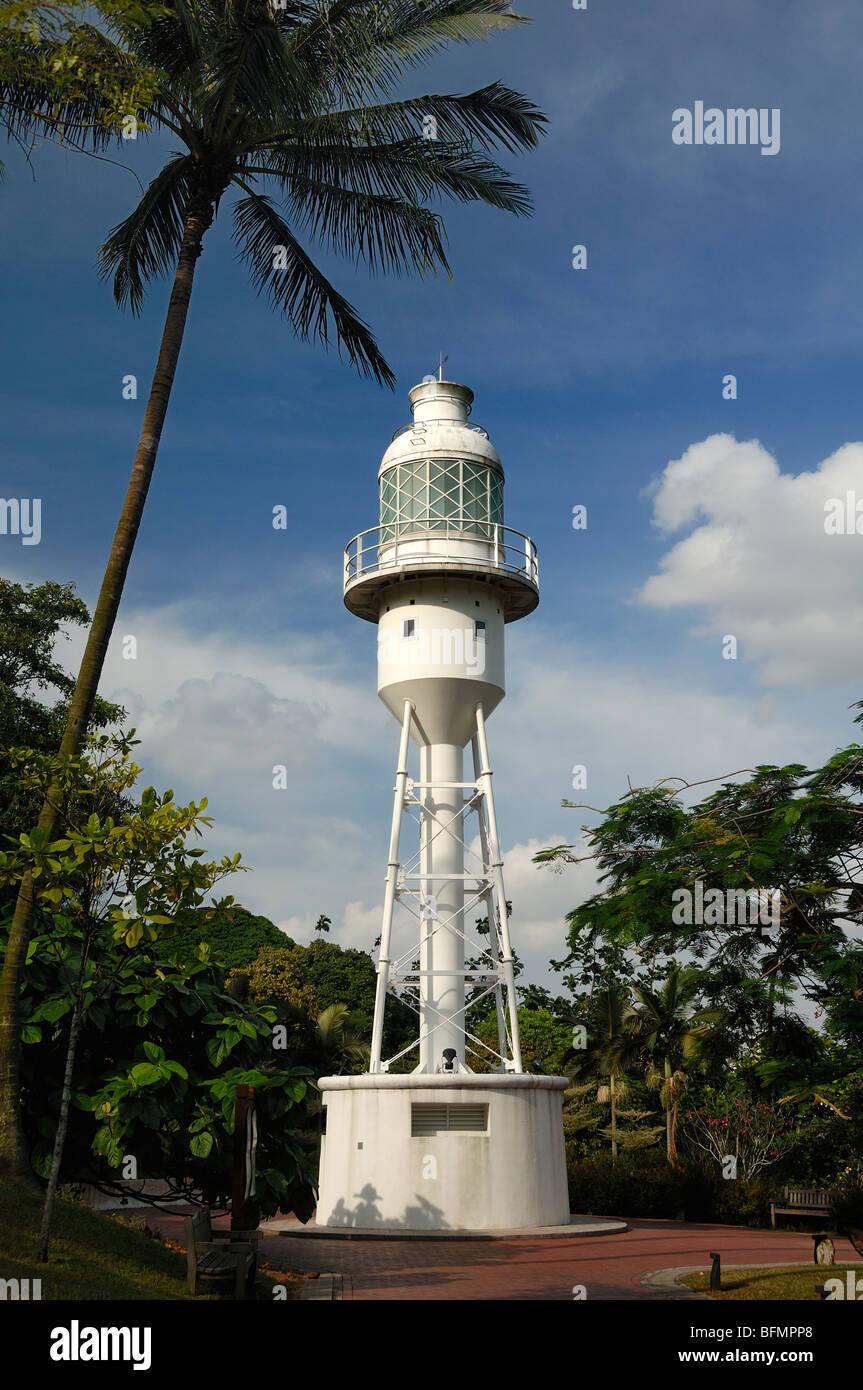 Lighthouse (1902) Fort Canning Park (Bukit Larangan or Forbidden Hill), Singapore - Stock Image