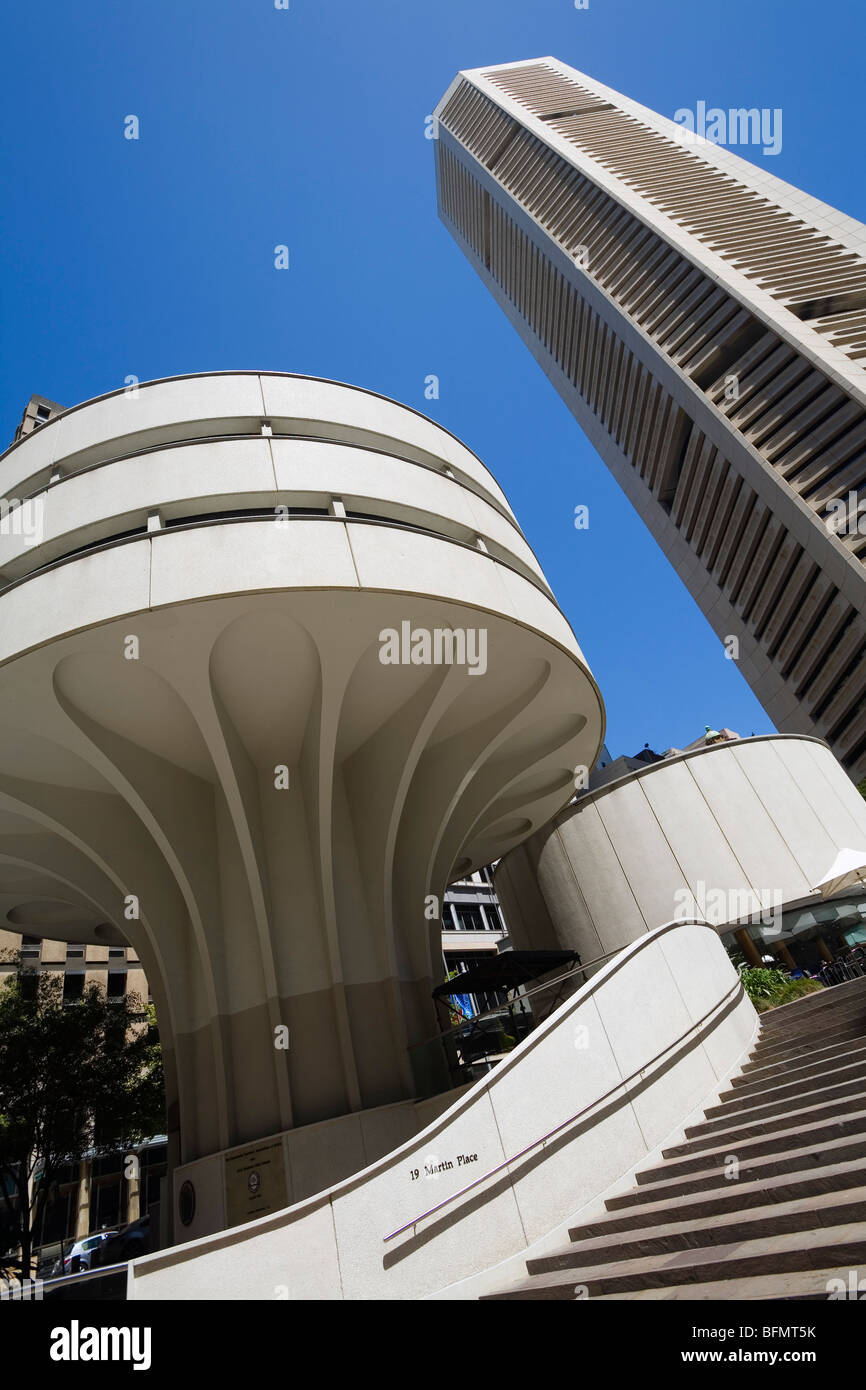 Australia, New South Wales, Sydney.  Modern architecture of the MLC Centre at 19 Martin Place in the city centre. - Stock Image