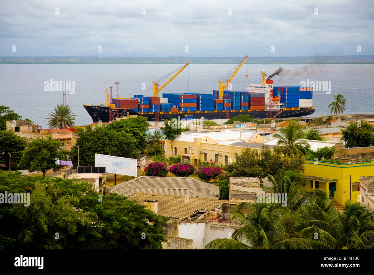 Mozambique, Pemba. Pemba is the capital of the Cabo Delgado Province in the North of Mozambique. Stock Photo