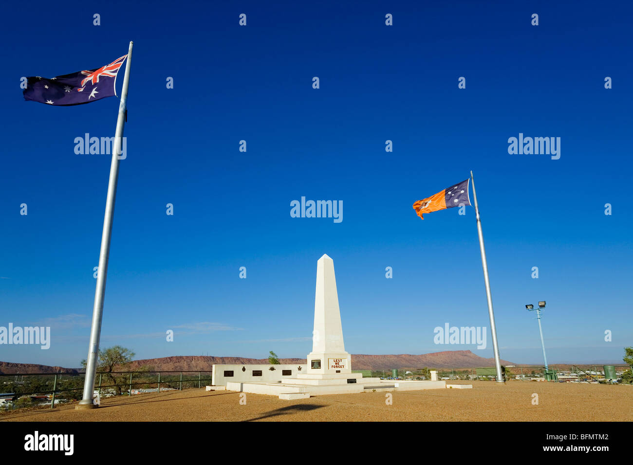 Australia, Northern Territory, Alice Springs.  War Memorial on Anzac Hill. - Stock Image