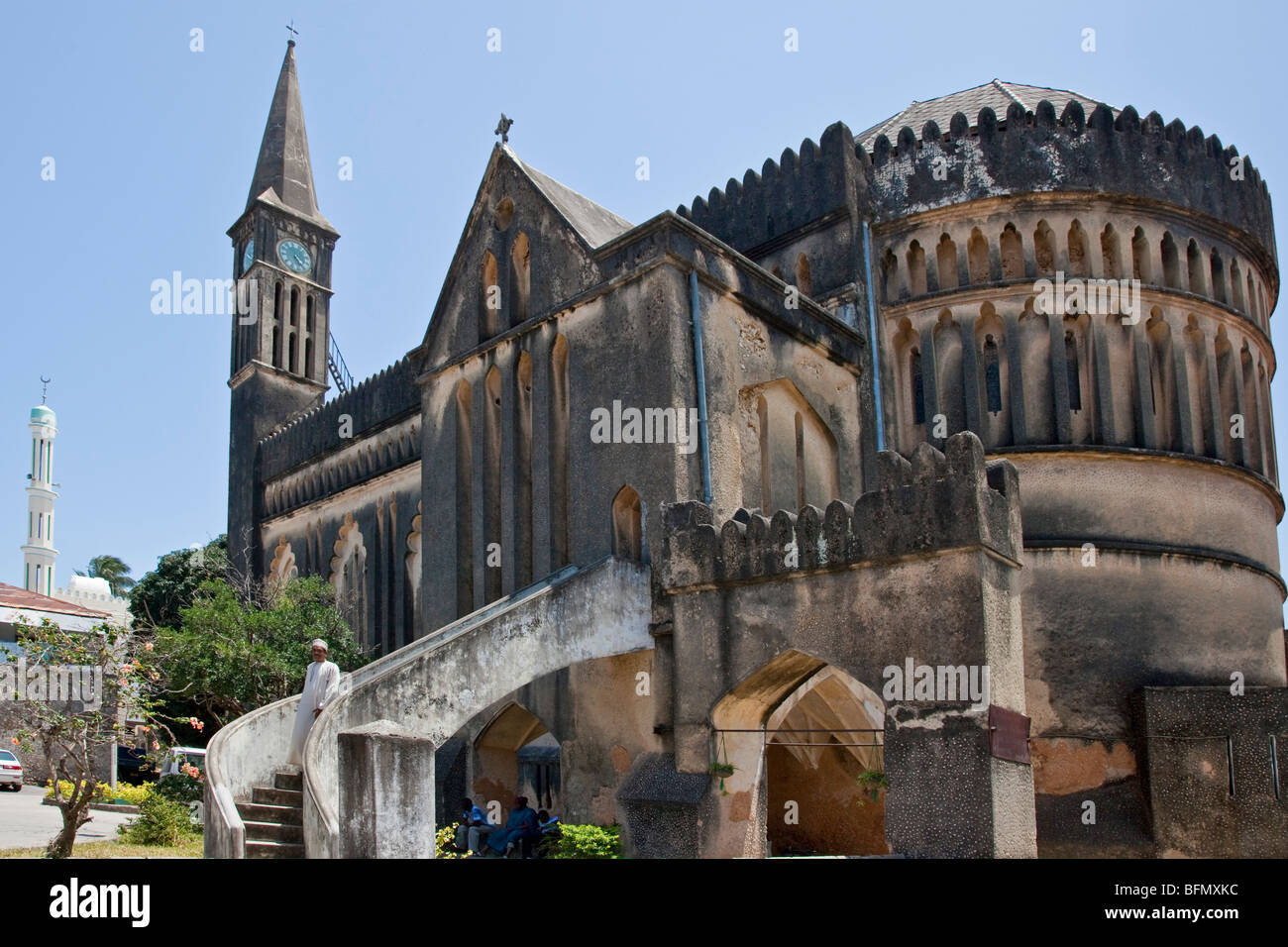Tanzania, Zanzibar, Stone Town. The Anglican Cathedral Church of Christ had its foundation stone laid on Christmas - Stock Image
