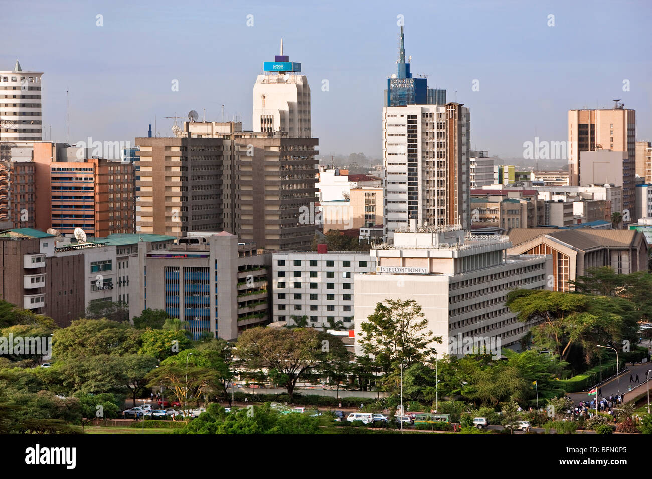 Kenya, Nairobi. Nairobi in late afternoon sunlight. - Stock Image