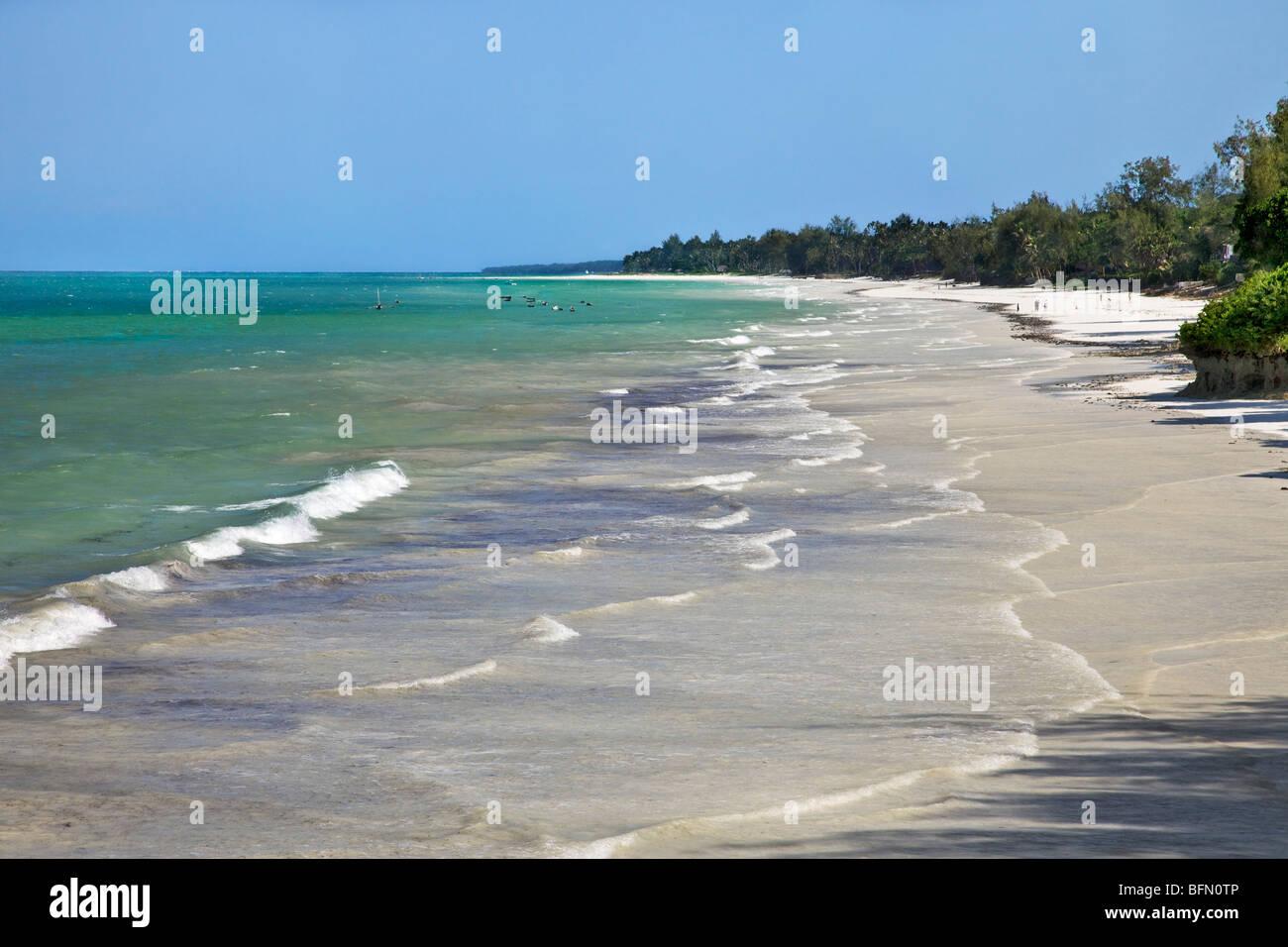 Kenya, Mombasa. Diani Beach on Kenya  s south coast is a very popular tourist destination. - Stock Image