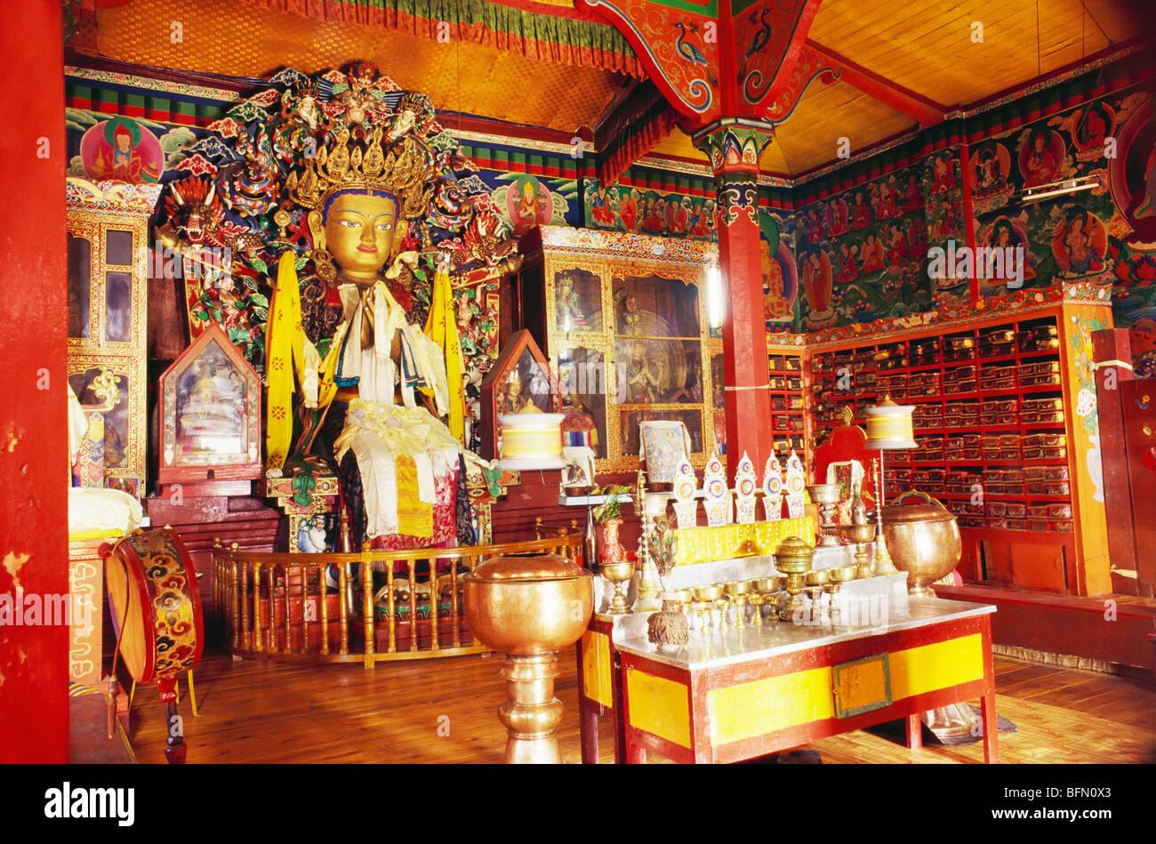 RMM 61095 Buddha Statue In Ghoom Monastery Darjeeling West Bengal India