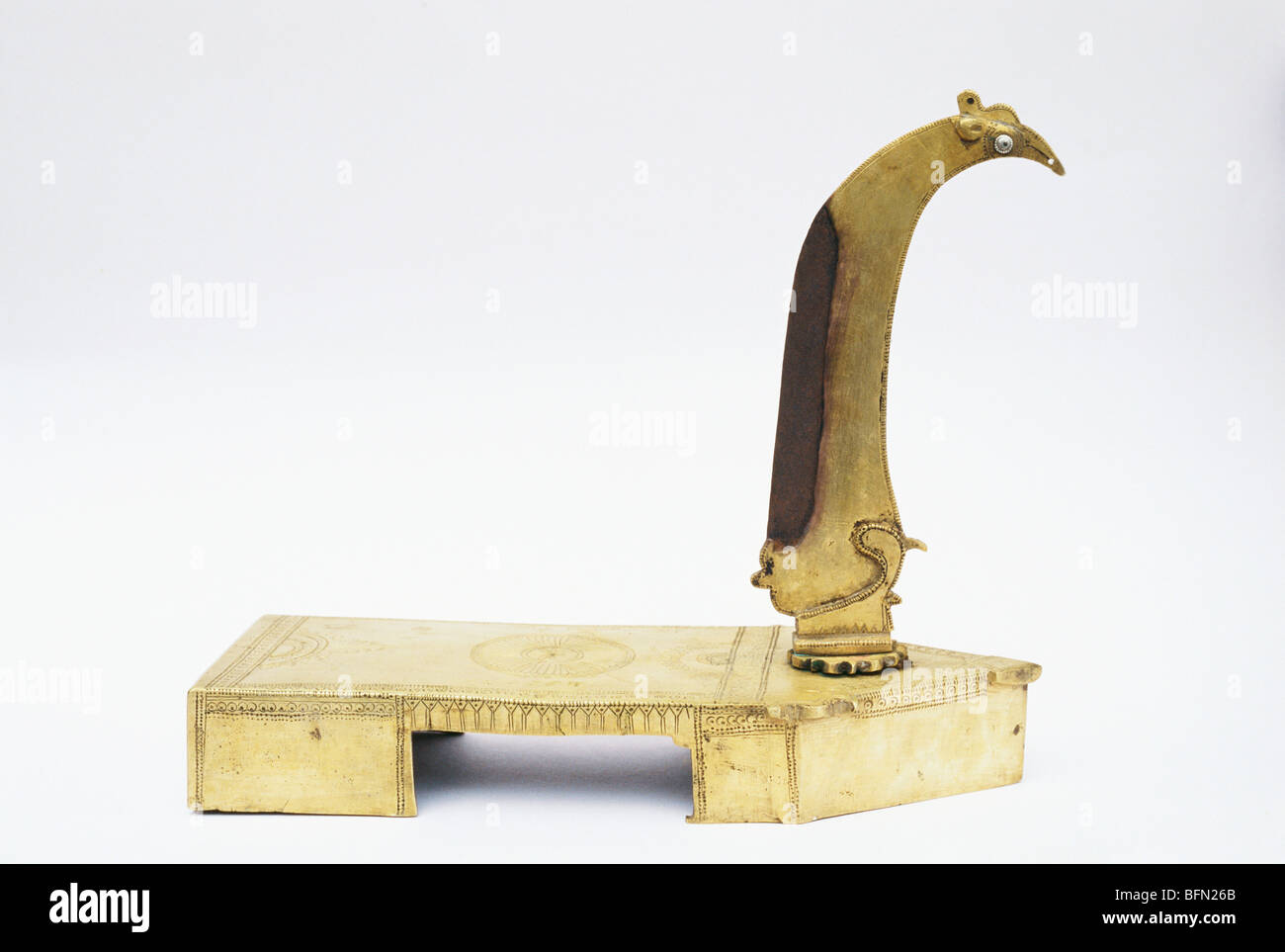 Maa 61302 Brass Vegetable Cutter 100 Years Old India Stock Photo