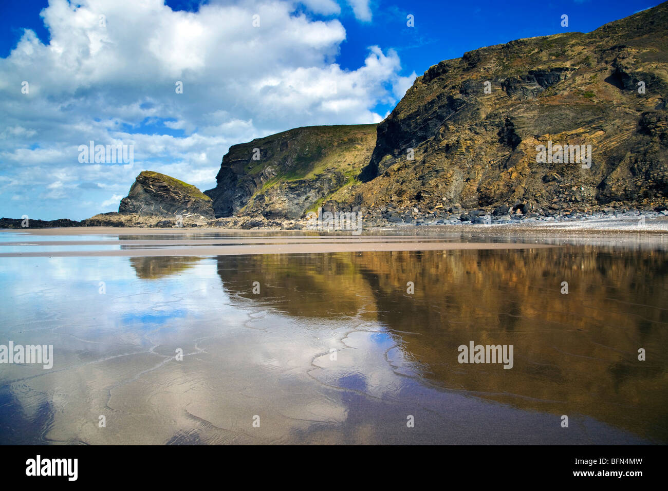 Strangles looking towards Crackington Haven; Cornwall - Stock Image