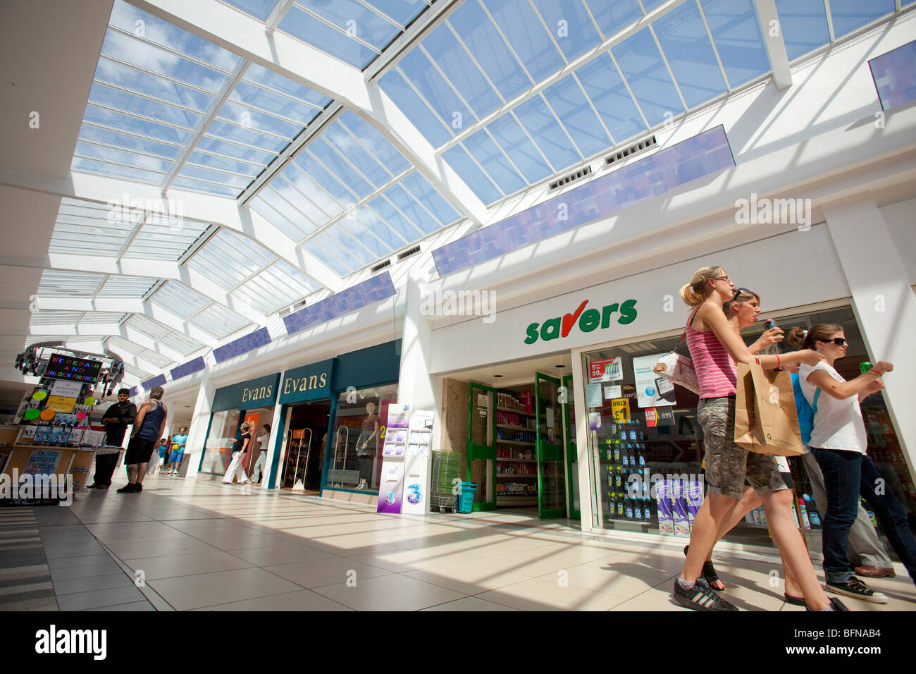 Newport Kingsway Shopping Centre Gwent South Wales UK - Stock Image
