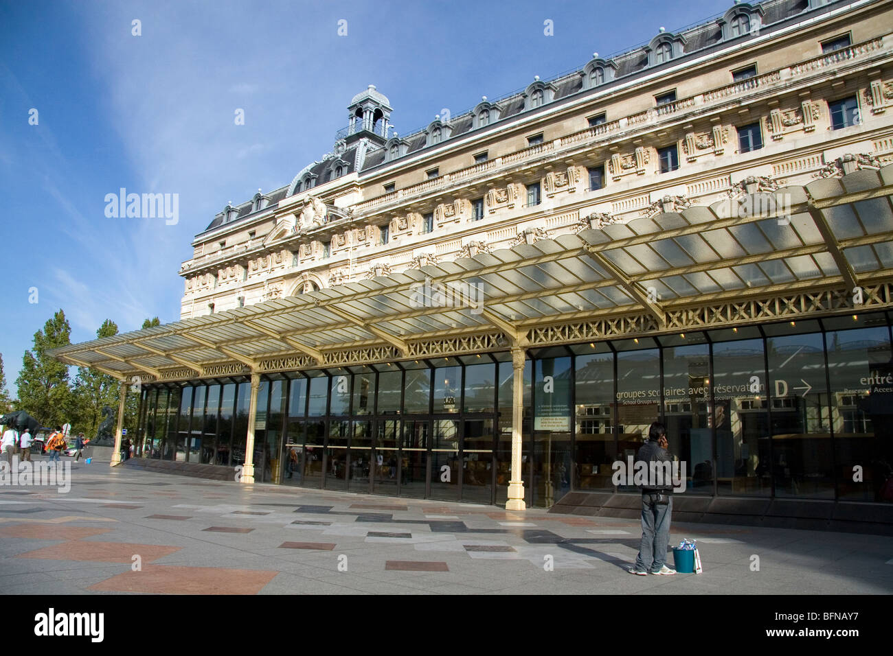 Exterior of the Musee d'Orsay in Paris, France. - Stock Image