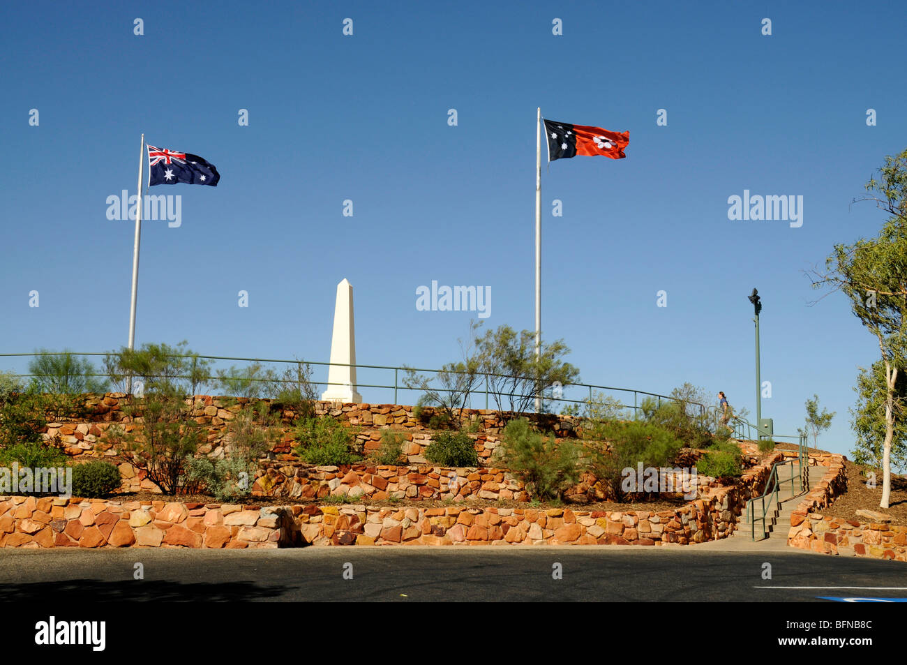 A war memorial on ANZAC hill in  Alice Springs, Australia - Stock Image