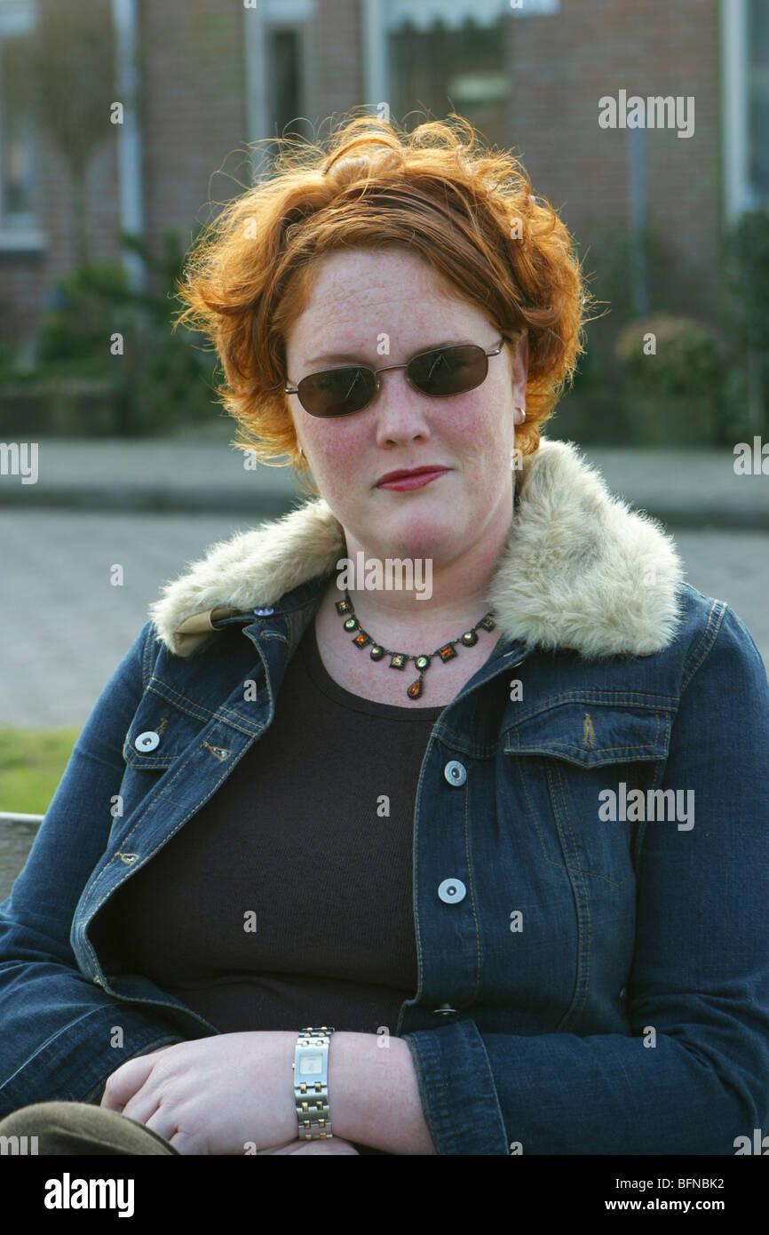 Mature plump redheaded woman