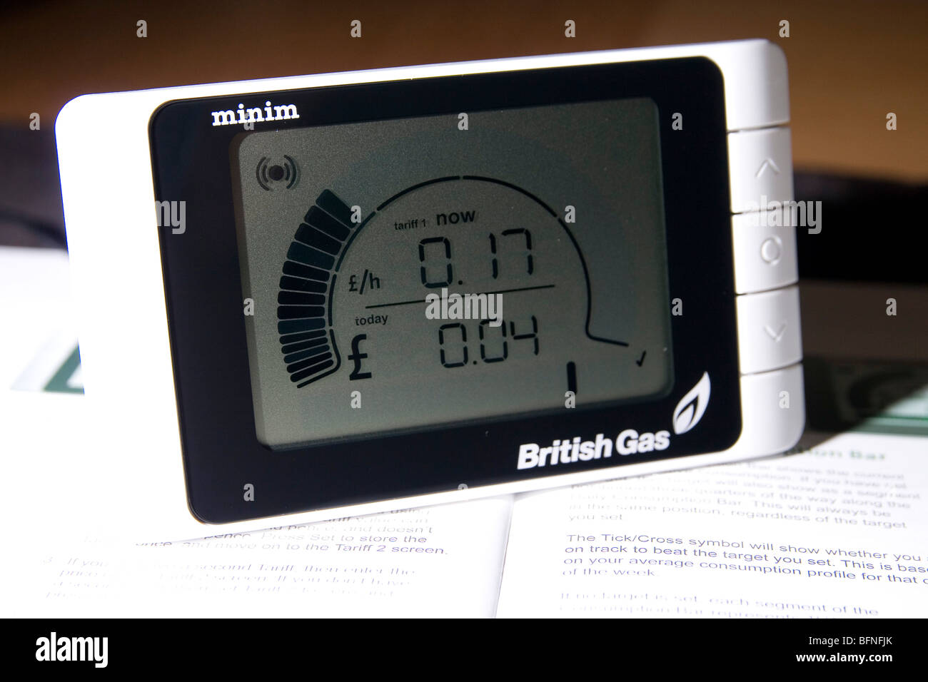 A British Gas Minim Smart Meter - Stock Image