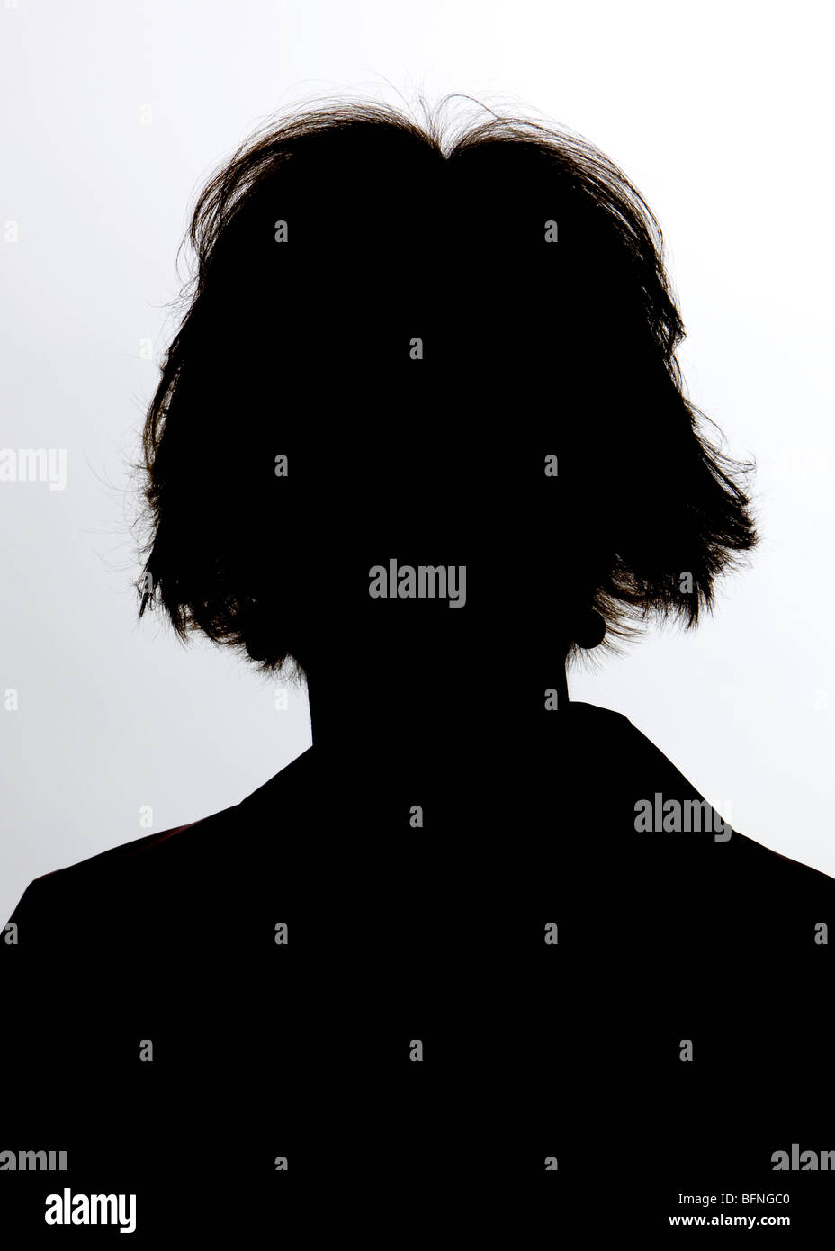 A person in shadow - Stock Image