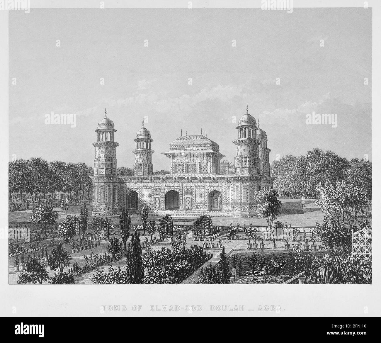 Tomb of Elmad-ud-Dowlah – Agra Stock Photo