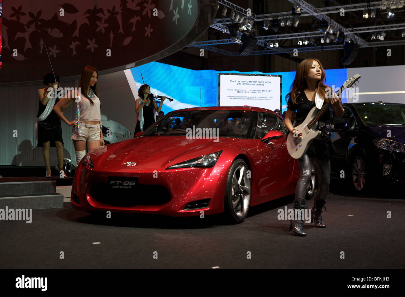 Toyota concept car FT-86 sports coupe displayed at the 2009 Tokyo Motorshow. - Stock Image
