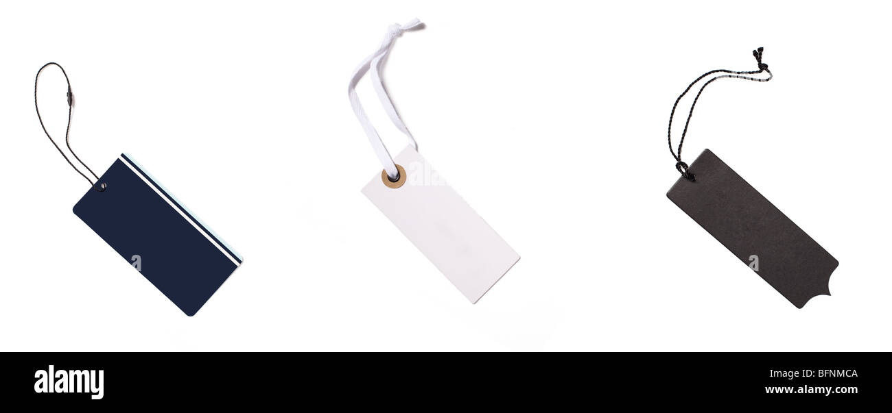 Blank Price Tags On White Background Stock Photo 26907226 Alamy