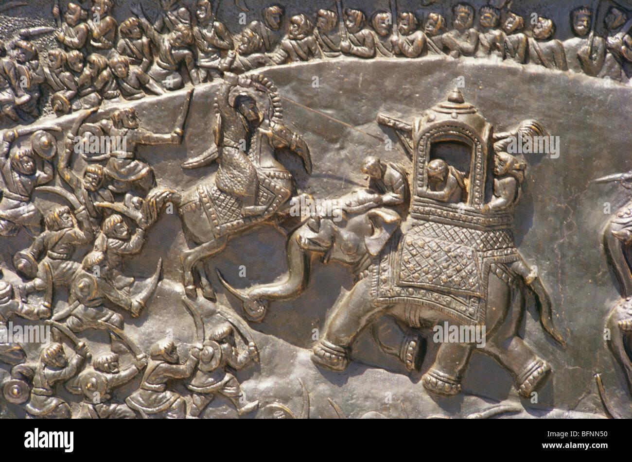 SNS 60036 : Scene of Haldighati war ; Jhansi ; Uttar Pradesh ; India Stock Photo