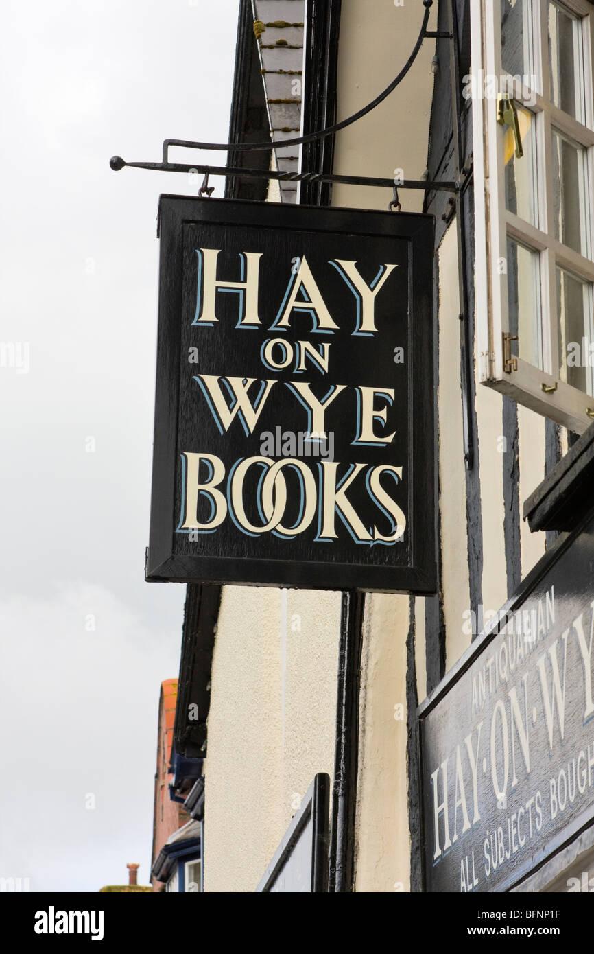 Bookshop in Hay on Wye - Stock Image