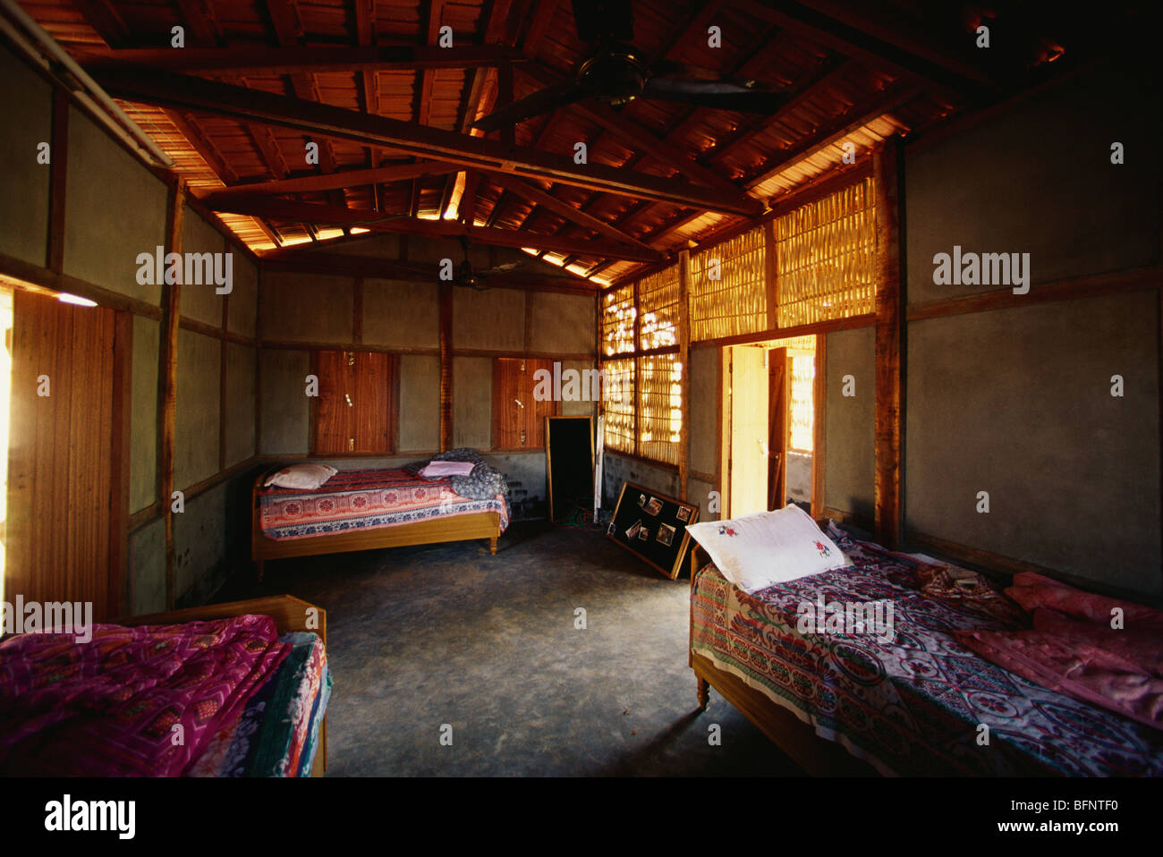 Interior of Earthquake proof house ; Bhuj ; Kutch ; Gujarat ; India - Stock Image