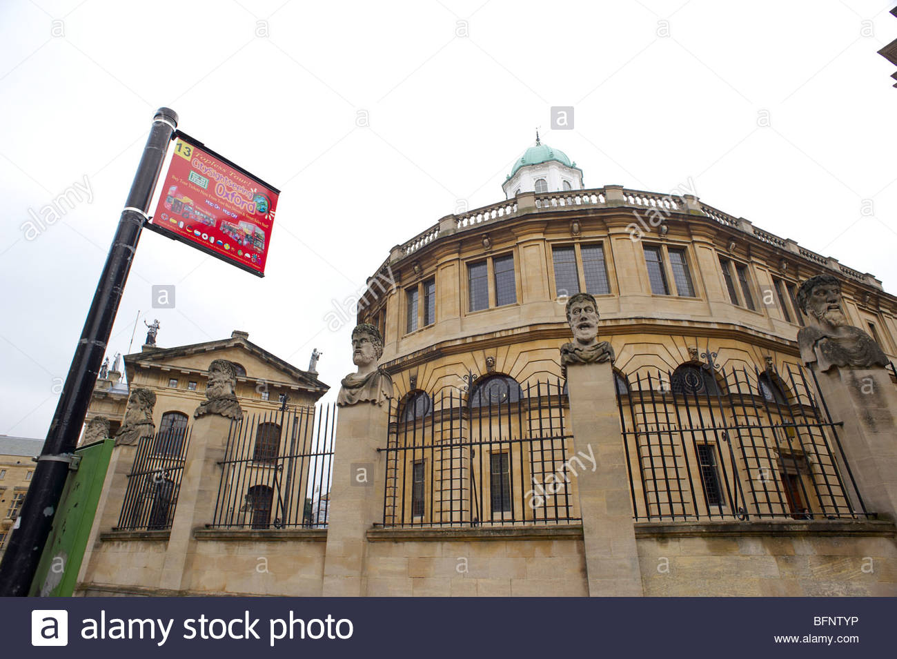 The Sheldonian Theatre and Clarendon Building in Oxford Stock Photo